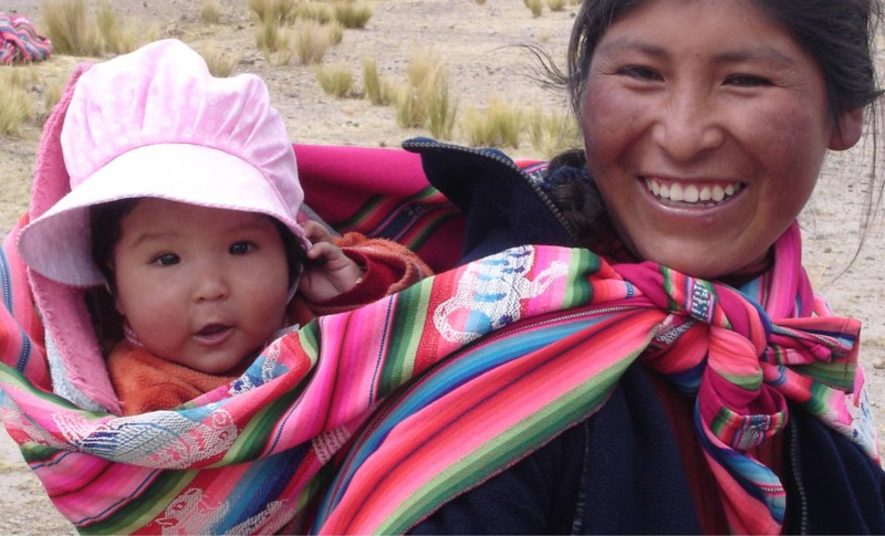 Peruvian Mother with baby